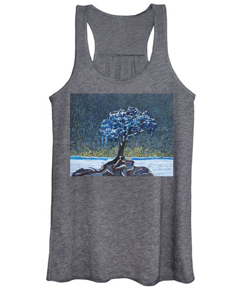 Standing Alone In The Snow Women's Tank Top