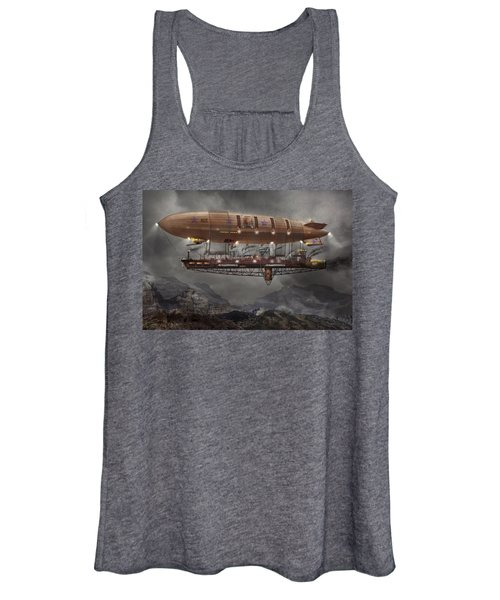 Steampunk - Blimp - Airship Maximus  Women's Tank Top