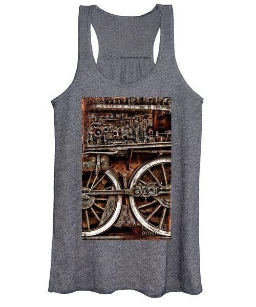 Steampunk- Wheels Locomotive Women's Tank Top