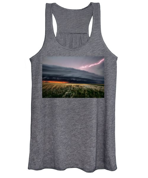 Steamroller - Storm Spans Horizon In Kansas Women's Tank Top