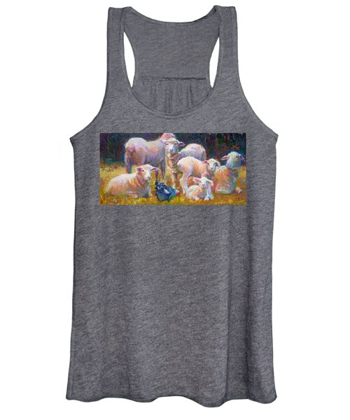 Stranger At The Well - Spring Lambs Sheep And Hen Women's Tank Top