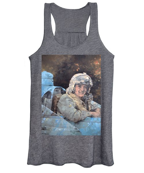 Study For Donald Campbell Oil On Canvas Women's Tank Top