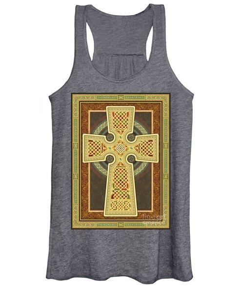 Stylized Celtic Cross Women's Tank Top