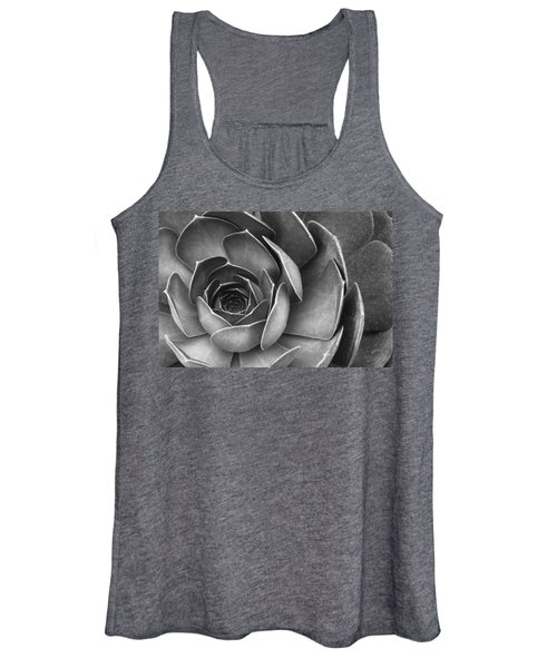 Succulent In Black And White Women's Tank Top