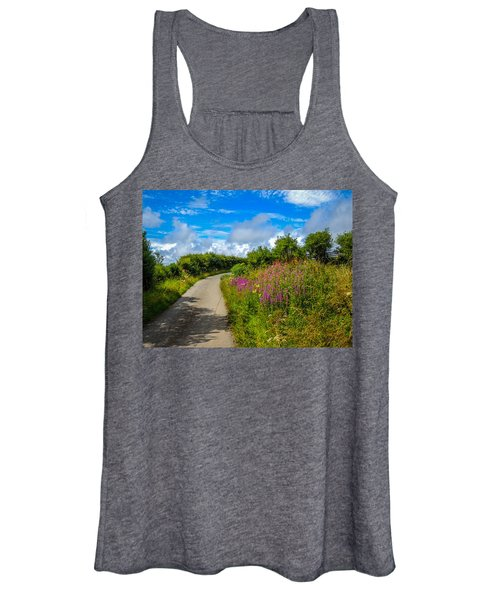 Summer Flowers On Irish Country Road Women's Tank Top