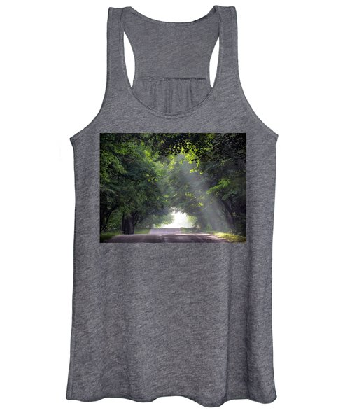 Sun Rays On Waters End Road Women's Tank Top