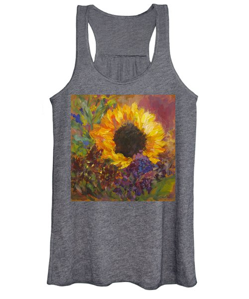 Sunflower Dance Original Painting Impressionist Women's Tank Top