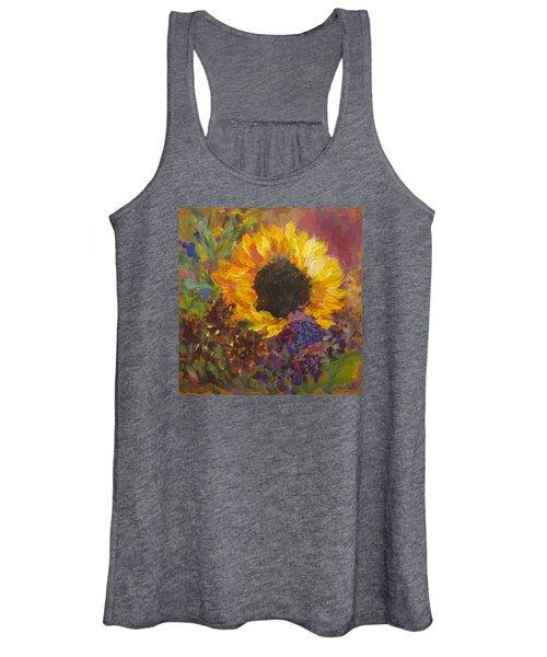 Sunflower Dance Original Painting Impressionist Women's Tank Top