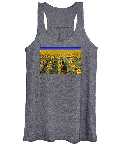 Sunflower Field Women's Tank Top
