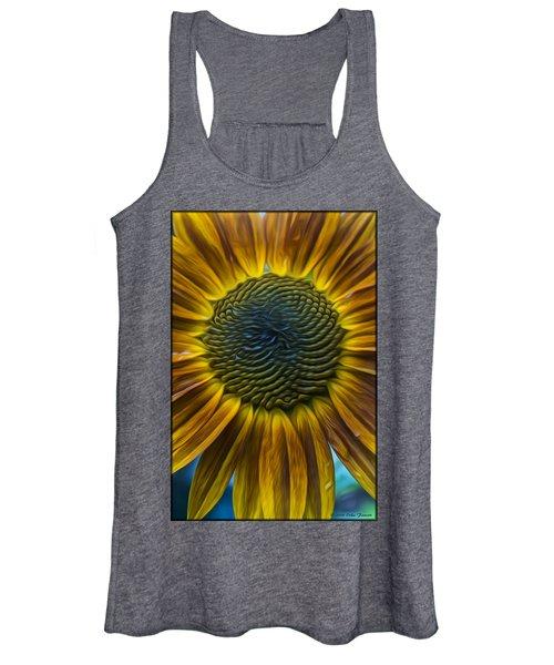 Sunflower In Rain Women's Tank Top