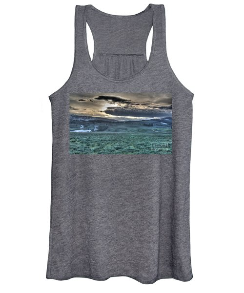 Sunrise At A Small Pond In Yellowstone Women's Tank Top