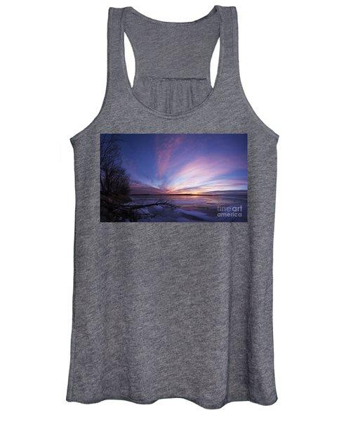 Sunset At Lovewell Lake Kansas Women's Tank Top