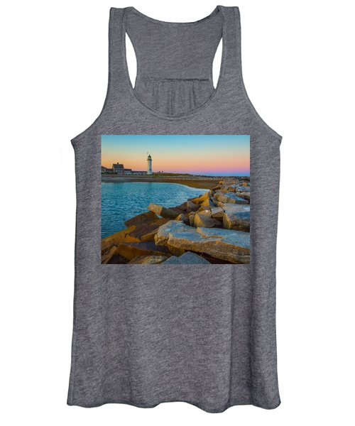 Sunset At Old Scituate Lighthouse Women's Tank Top