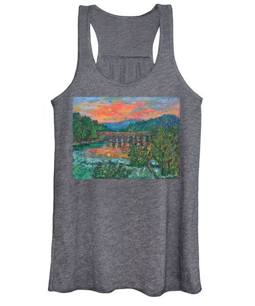 Sunset On The New River Women's Tank Top