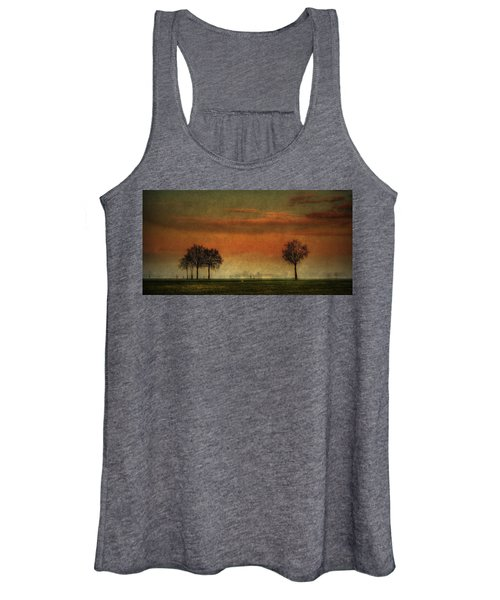 Sunset Over The Country Women's Tank Top