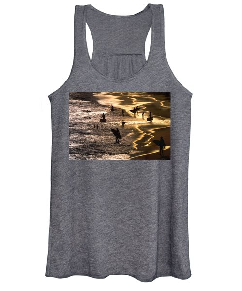 Surfers At Sunset Women's Tank Top