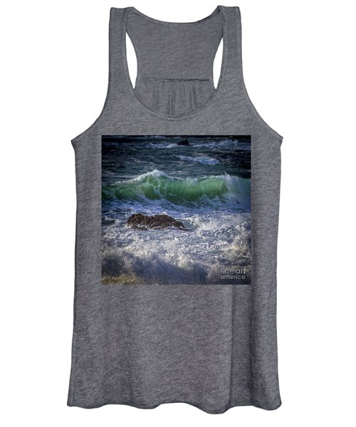 Swells In Doninos Beach Galicia Spain Women's Tank Top