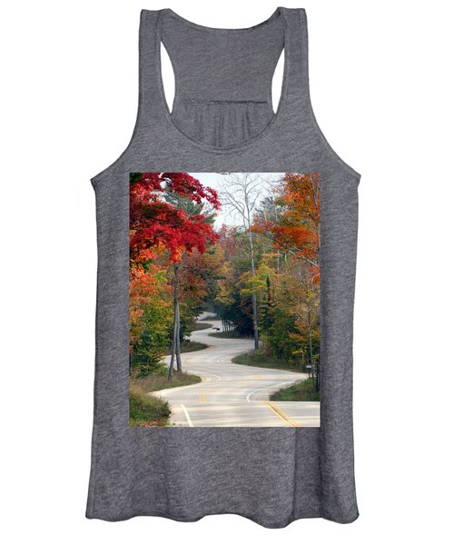 Swervy Road At North Port Women's Tank Top