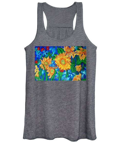 Symphony Of Sunflowers Women's Tank Top