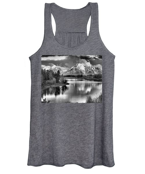 Tetons In Black And White Women's Tank Top