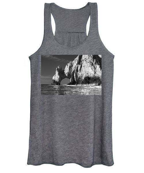 The Arch Cabo San Lucas In Black And White Women's Tank Top