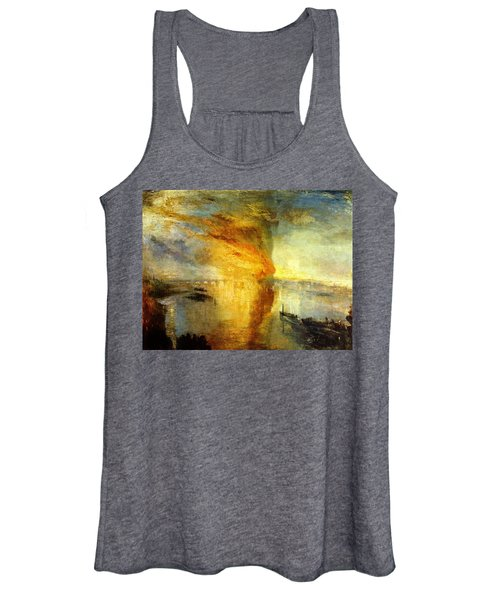 The Burning Of The Houses Of Lords And Commons Women's Tank Top
