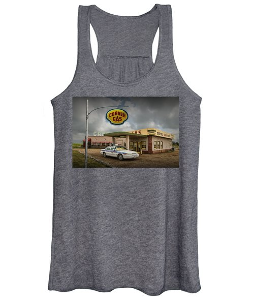 The Corner Gas Station From The Canadian Tv Sitcom Women's Tank Top