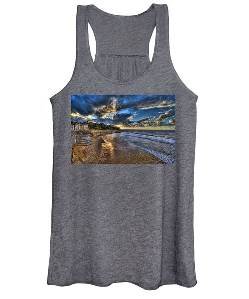 the golden hour during sunset at Israel Women's Tank Top