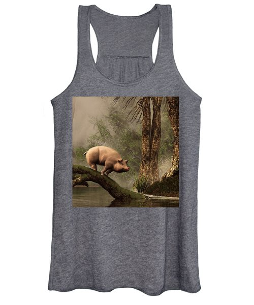 The Lost Pig Women's Tank Top