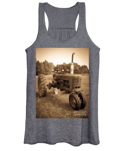 The Old Tractor Sepia Women's Tank Top