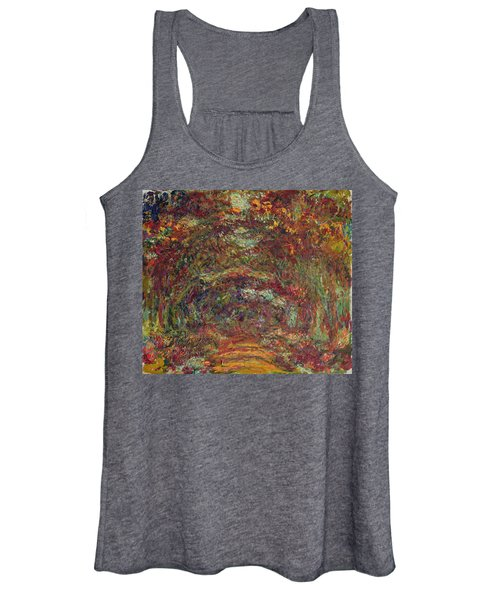 The Rose Path, Giverny, 1920-22 Oil On Canvas Women's Tank Top