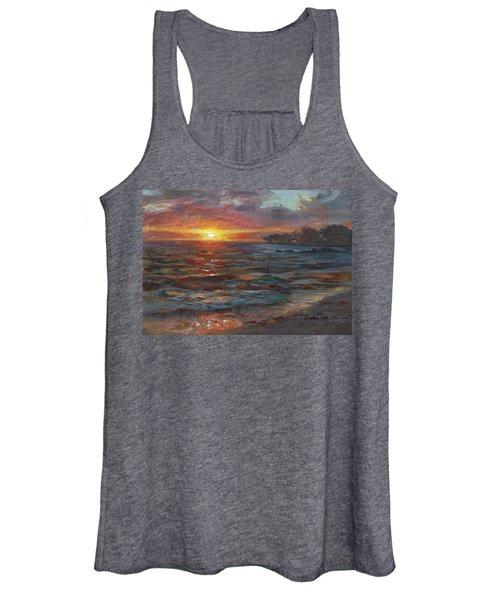 Through The Vog - Hawaii Beach Sunset Women's Tank Top