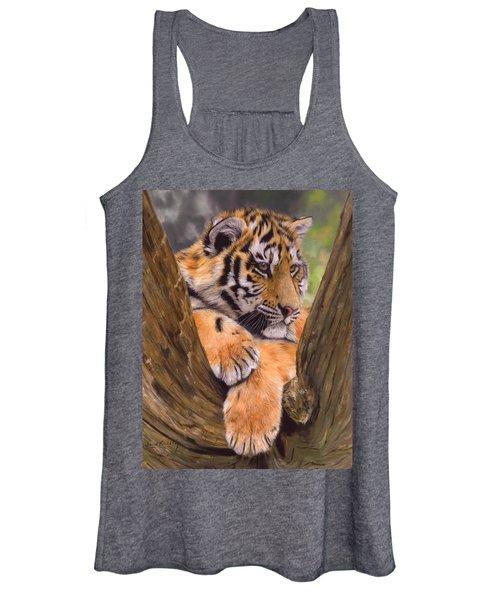 Tiger Cub Painting Women's Tank Top