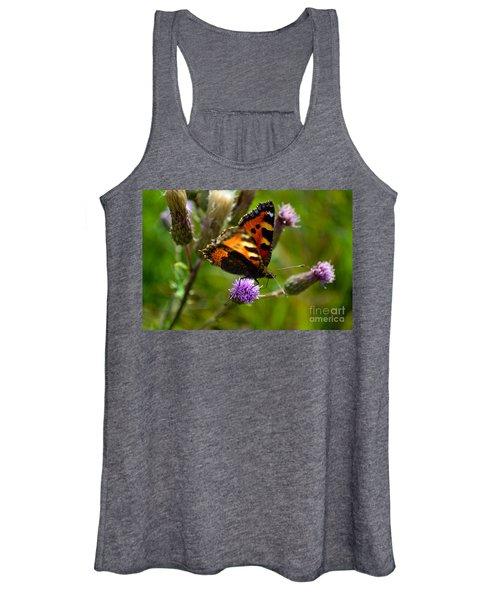 Tortoise Shell Butterfly Women's Tank Top