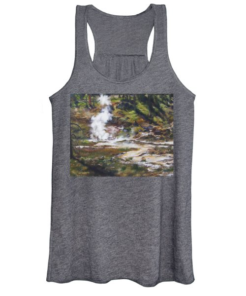 Trail To The Artists Paint Pots - Yellowstone Women's Tank Top