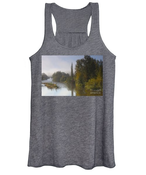 Trees A View From Usk Bridge Women's Tank Top