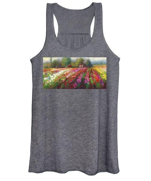 Trespassing Dahlia Field Landscape Women's Tank Top