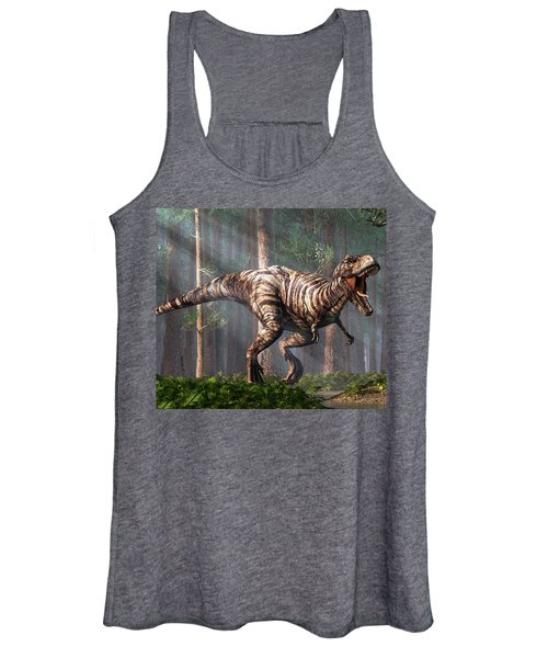 Trex In The Forest Women's Tank Top
