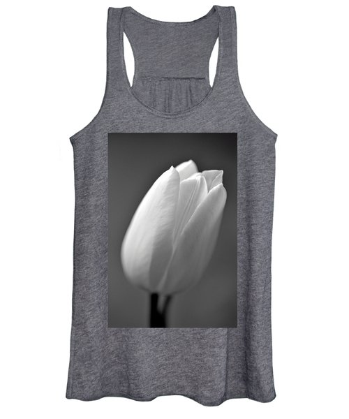 Tulip In Black And White Women's Tank Top