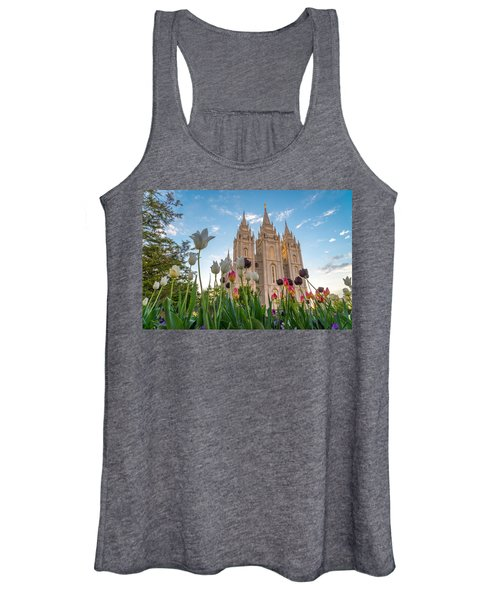 Tulips At The Temple Women's Tank Top