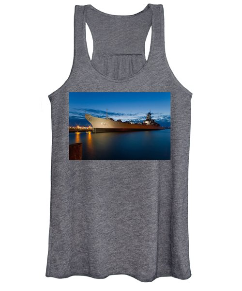 Uss Wisconsin At Sunset Women's Tank Top