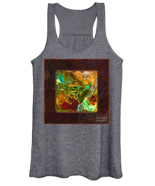 Vibrant Fall Colors An Abstract Painting Women's Tank Top