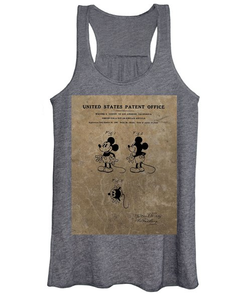 Vintage Mickey Mouse Patent Women's Tank Top