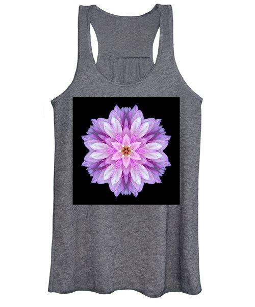 Violet Dahlia I Flower Mandala Women's Tank Top