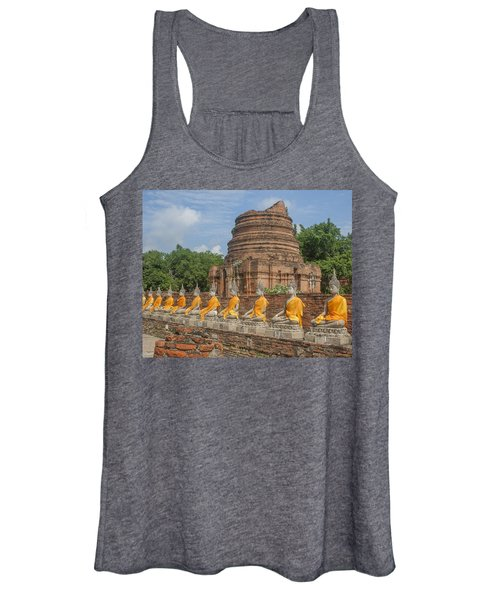 Wat Phra Chao Phya-thai Buddha Images And Ruined Chedi Dtha005 Women's Tank Top