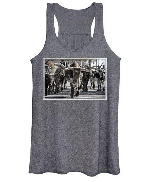 Watercolor Longhorns Women's Tank Top