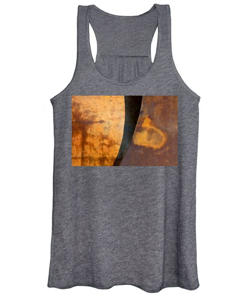 Weathered Bronze Abstract Women's Tank Top