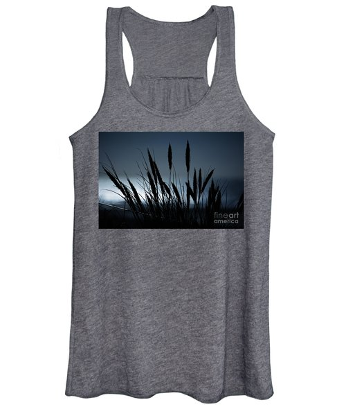 Wheat Stalks On A Dune At Moonlight Women's Tank Top