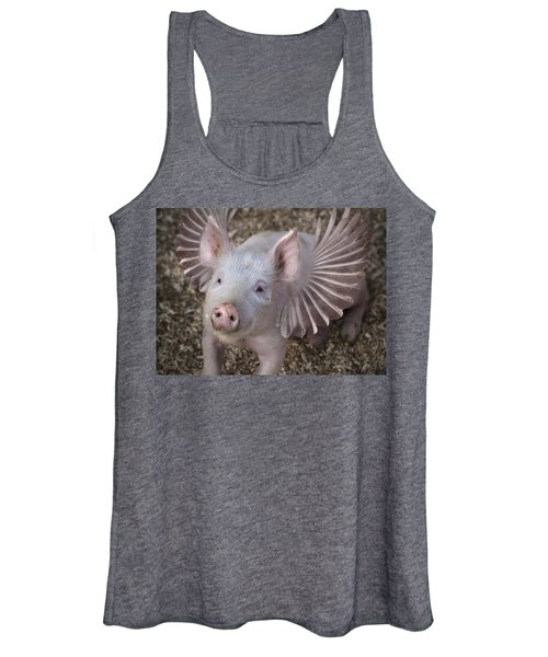 When Pigs Fly Women's Tank Top