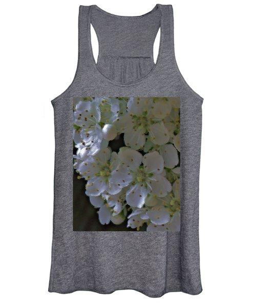 White Blooms Women's Tank Top